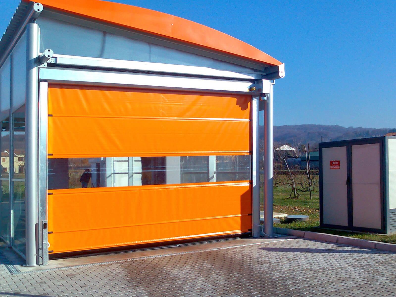 Porta rapida ad avvolgimento SAETTA - Arancio RAL 2004