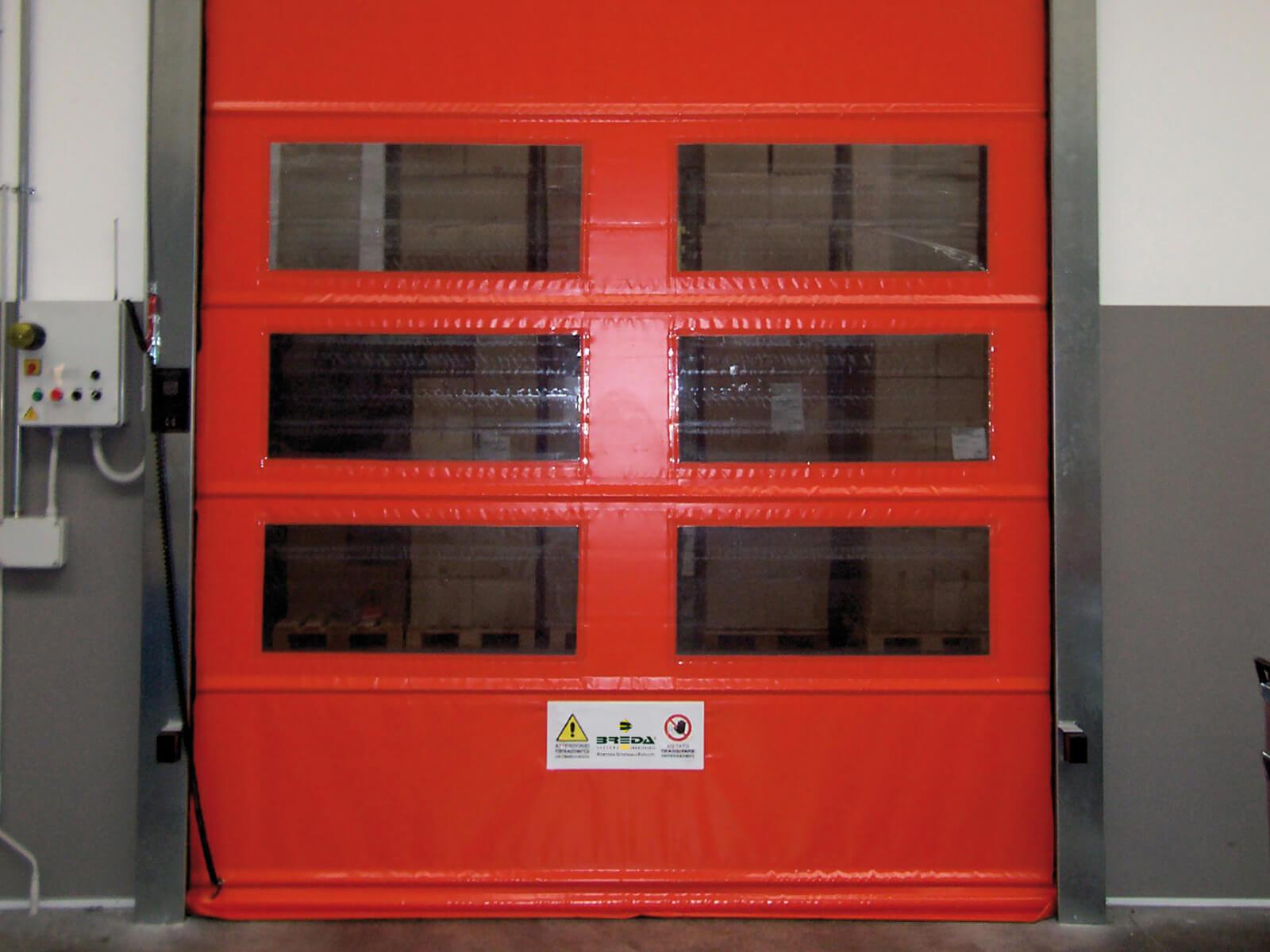 Porta rapida ad avvolgimento SAETTA - Rosso RAL 3002