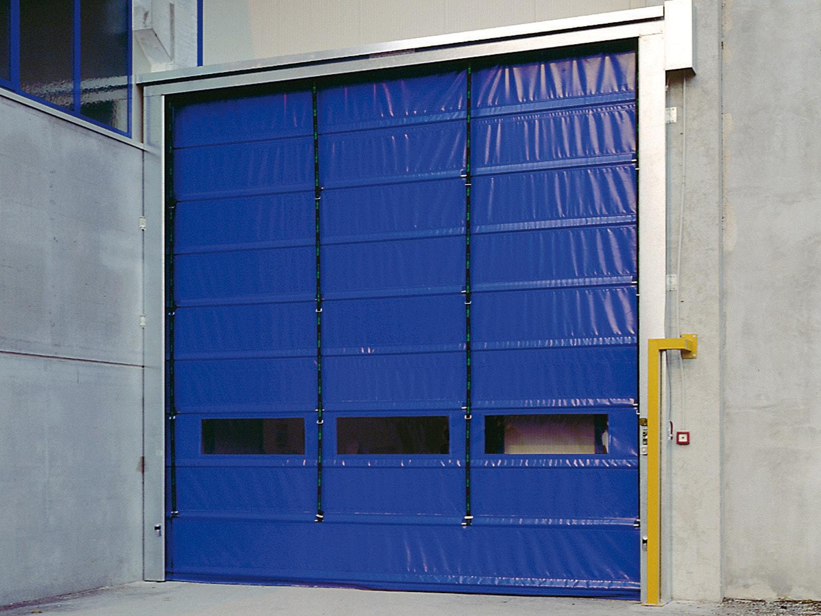 Porta rapida ad impacchettamento FULMINE - Blu RAL 5002