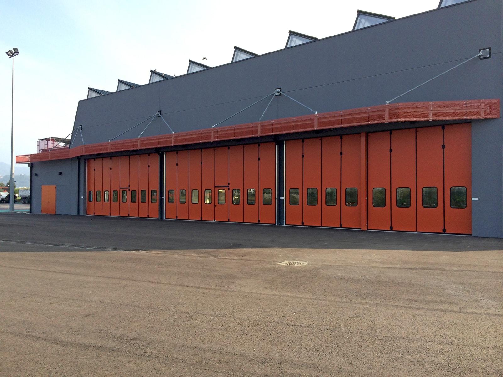 Portone a libro industriale ADONE - Arancione RAL