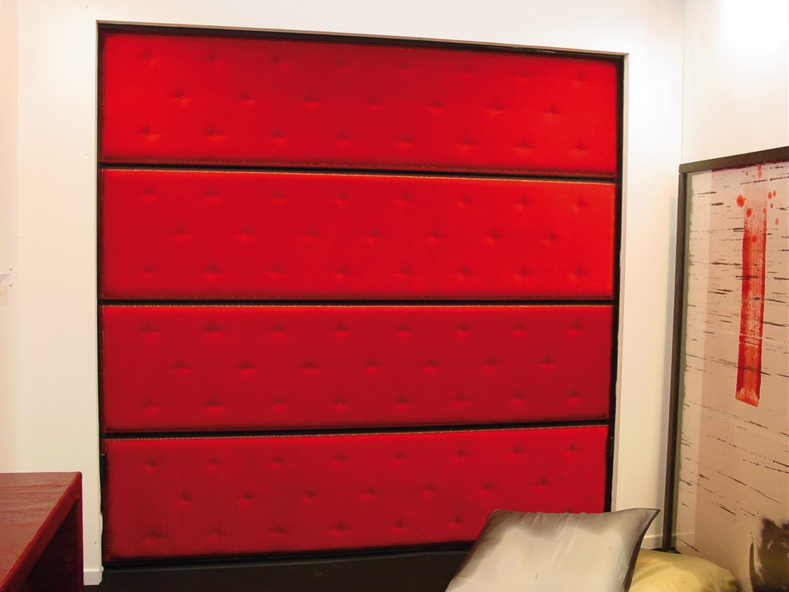 Portone di design Le Perle TEXTILE JEWELS - Tessuto rosso