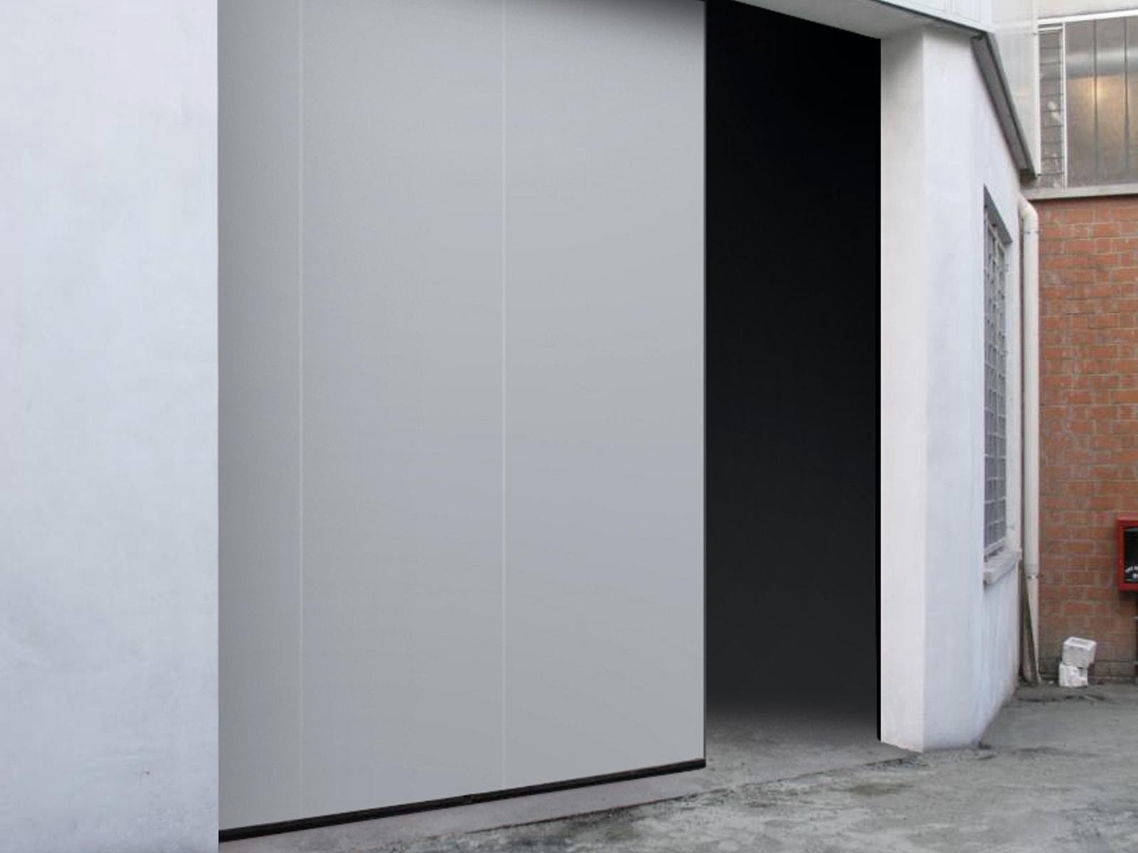 Portone scorrevole industriale ATLANTE - Bianco grigio