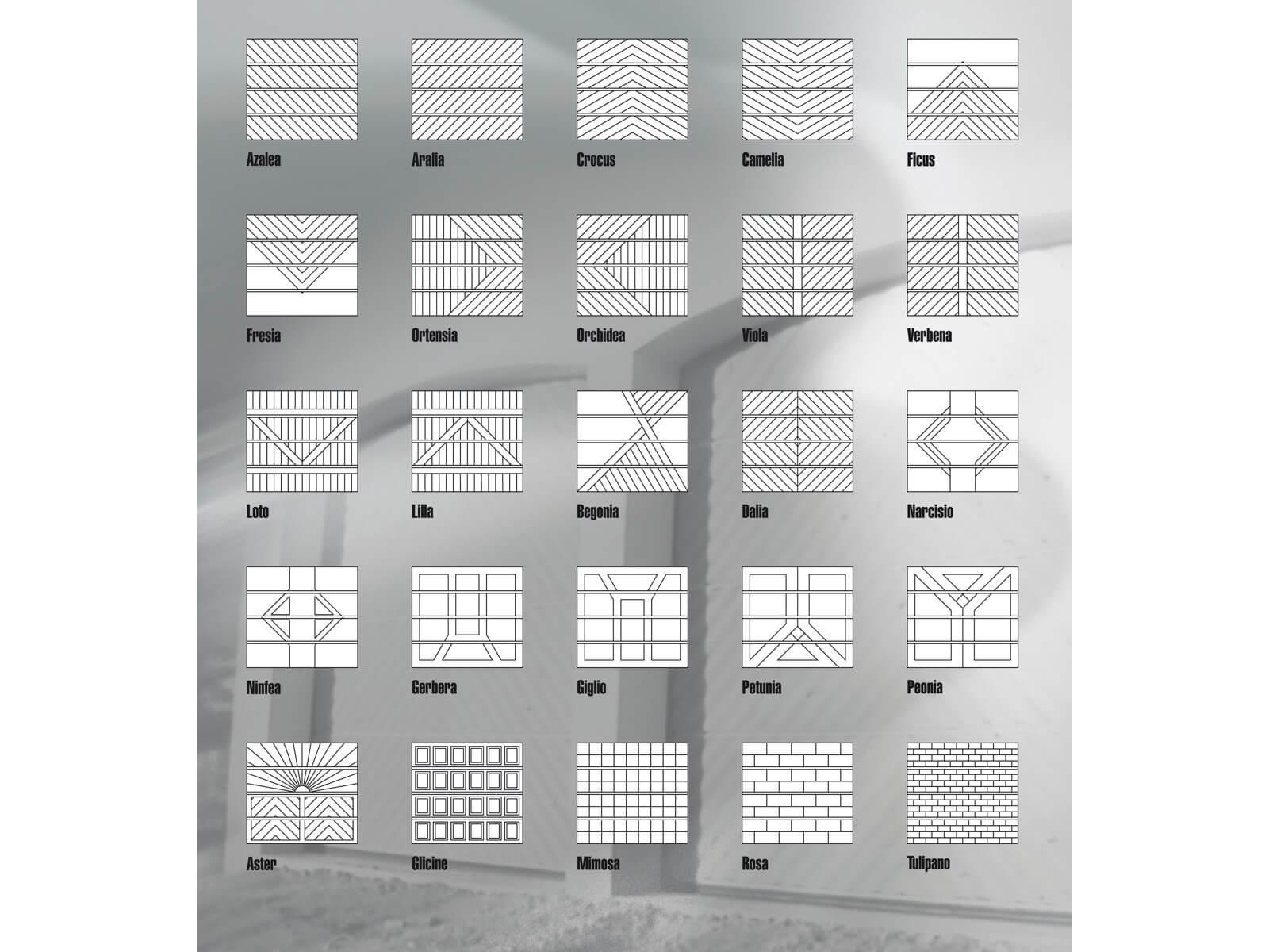 Portone sezionale in legno-alluminio PEGASO SPECIAL - Riepilogo