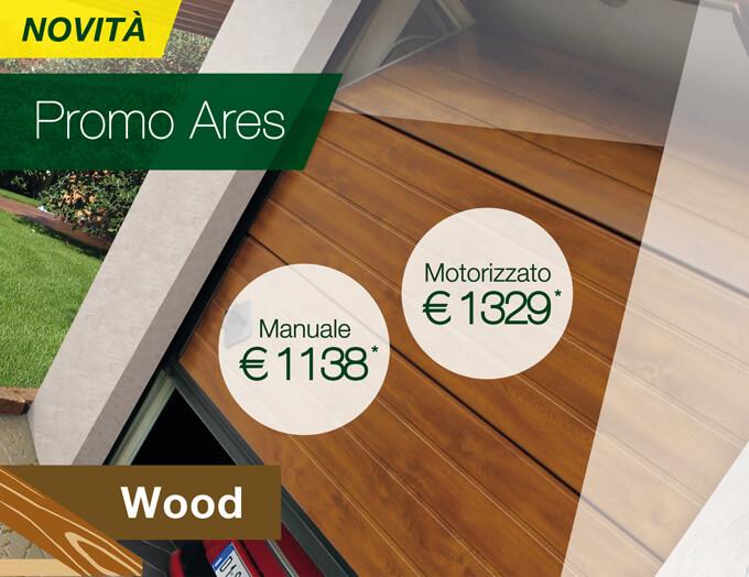 Promo Ares Wood - Portone sezionale in offerta