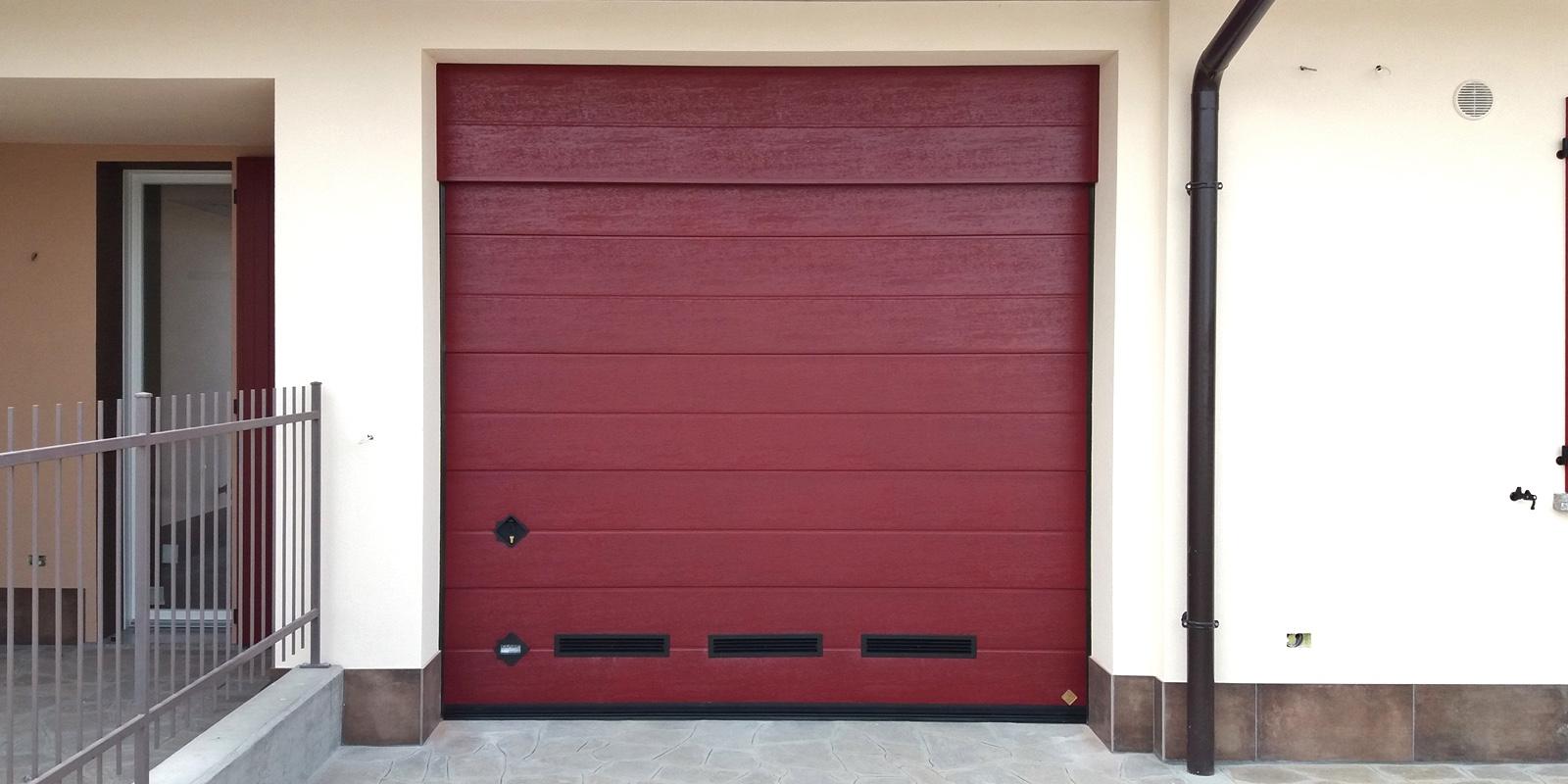 Portone Sezionale Sirio Breda - Colore Rosso