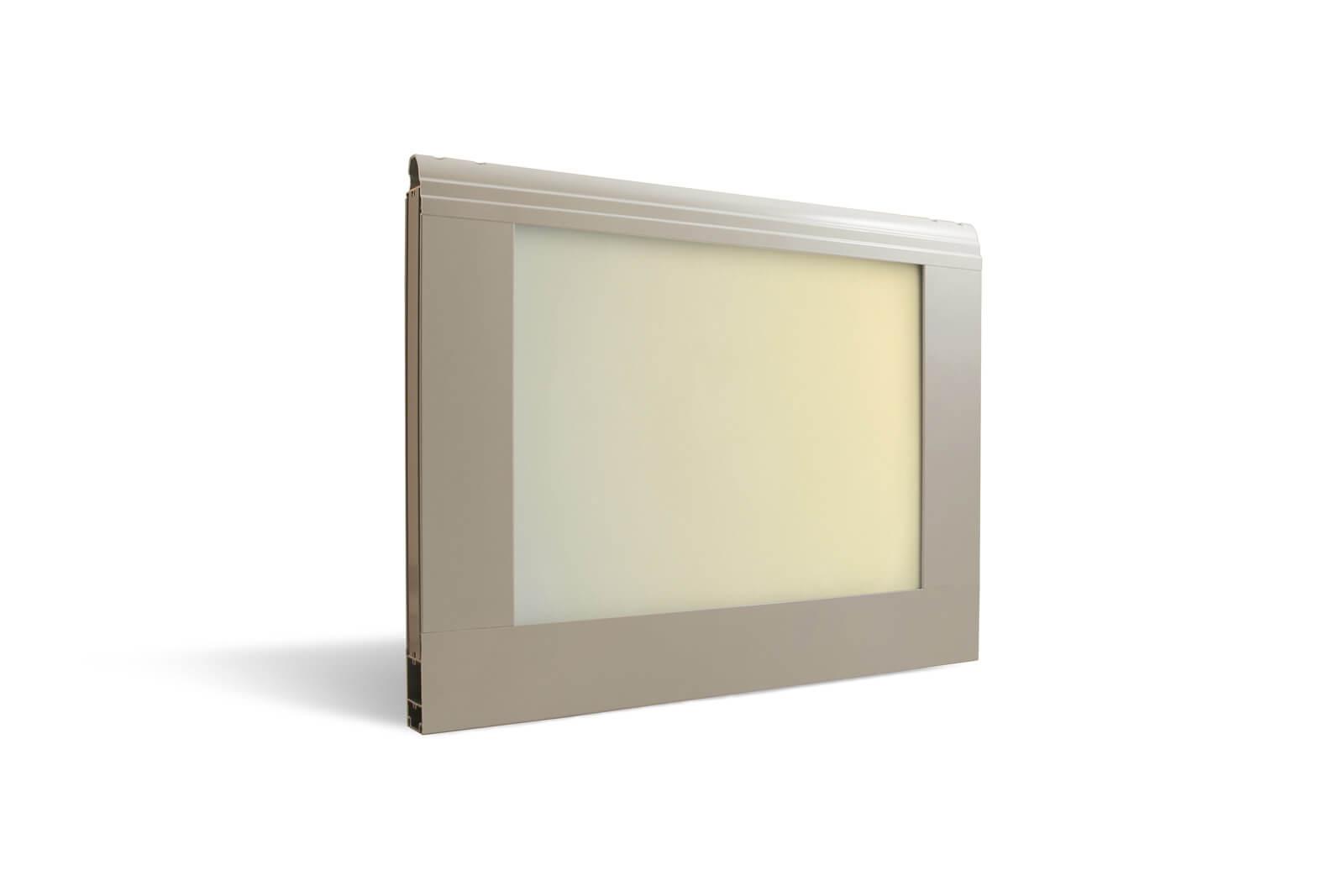 Sezione Visa - Acrilico opalino iridescente oro